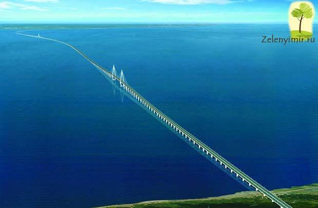 Мост через залив Ханчжоувань - один из самых длинных мостов мира - 3
