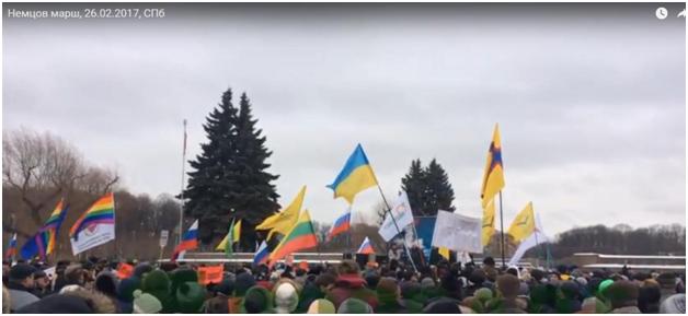 Геи, украинцы, оплаченная массовка: Марш Немцова – как это делали в Санкт-Петербурге