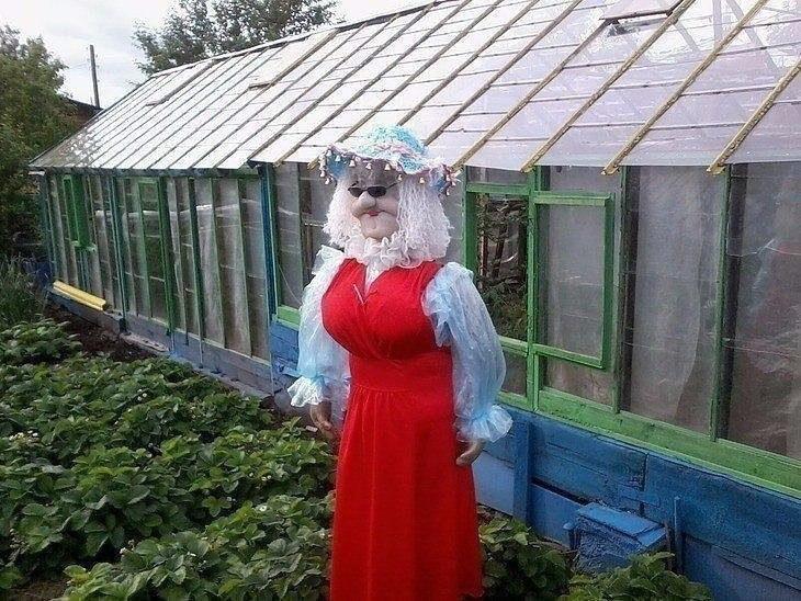 Пугало в огороде должно быть красивым
