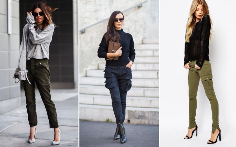 брюки карго для полных