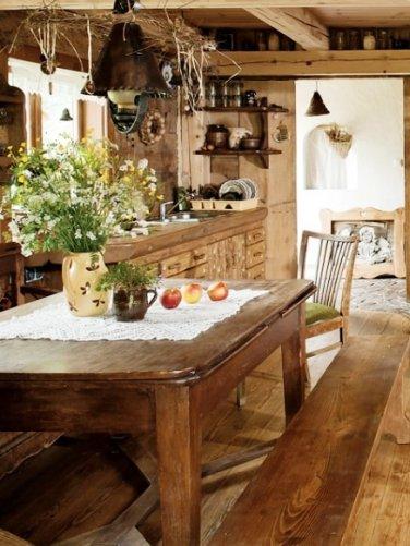 Очаровательные интерьеры деревенского дома. Словно у бабушки побывал...
