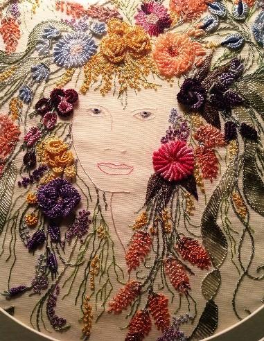 Оригинальная и выразительная техника вышивки с 3D эффектом — объемная вышивка