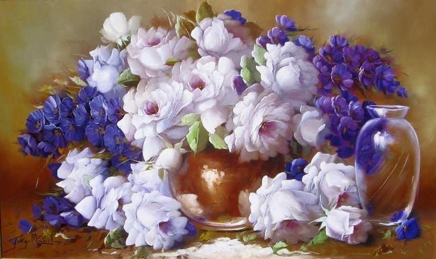 Волшебные цветы, художник Jorge Maciel
