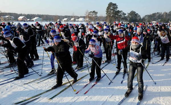 Путин поприветствовал участников «Лыжни России»