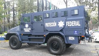 Мексиканская Служба федеральной защиты получила российский бронеавтомобиль