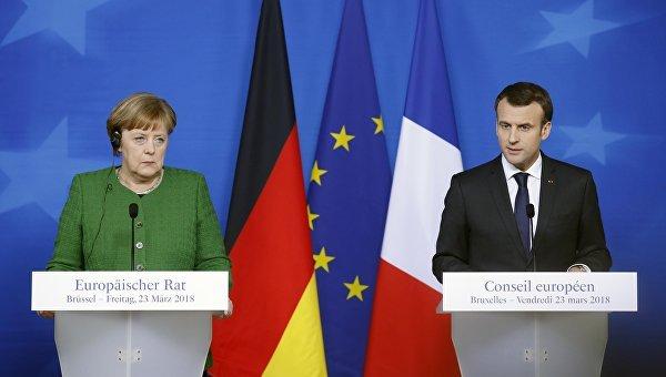 Макрон и Меркель едут в Вашингтон вступаться за Русал