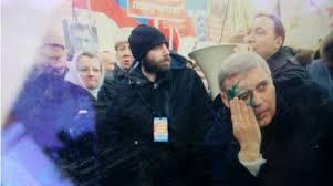 Касьянова облили зеленкой на марше памяти Немцова в Москве