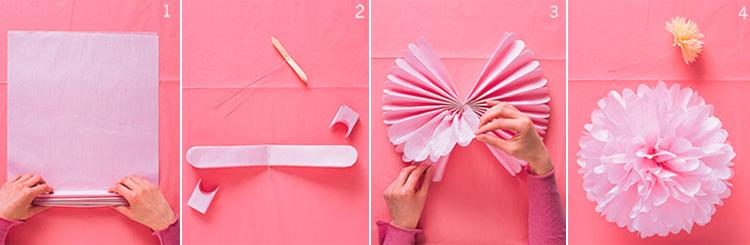 Помпоны из бумаги своими руками