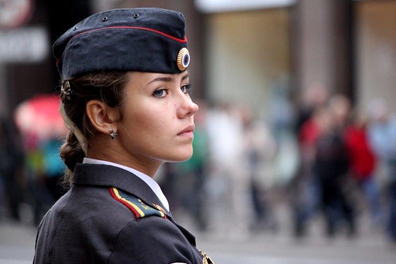 Женщина в погонах армия, девушки, полиция