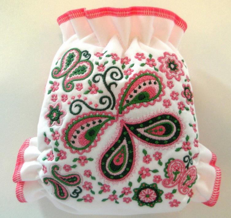 Машинная вышивка пейсли… Интересные варианты для вышивки!
