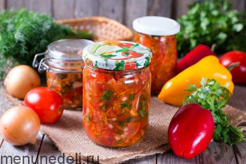 Соленая овощная заправка