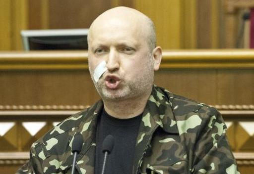 Горе-полководец Турчинов передвинул линию фронта до Краматорска