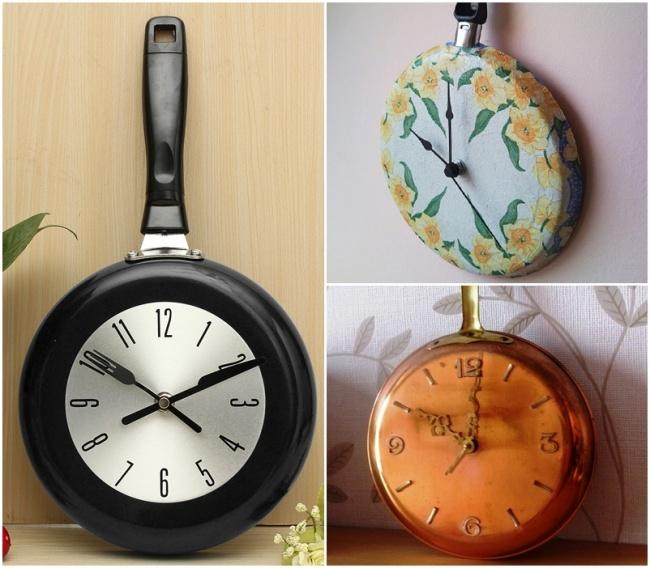 Часы из старой сковородки
