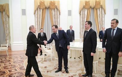 Путин принял в Кремле глав спецслужб стран СНГ
