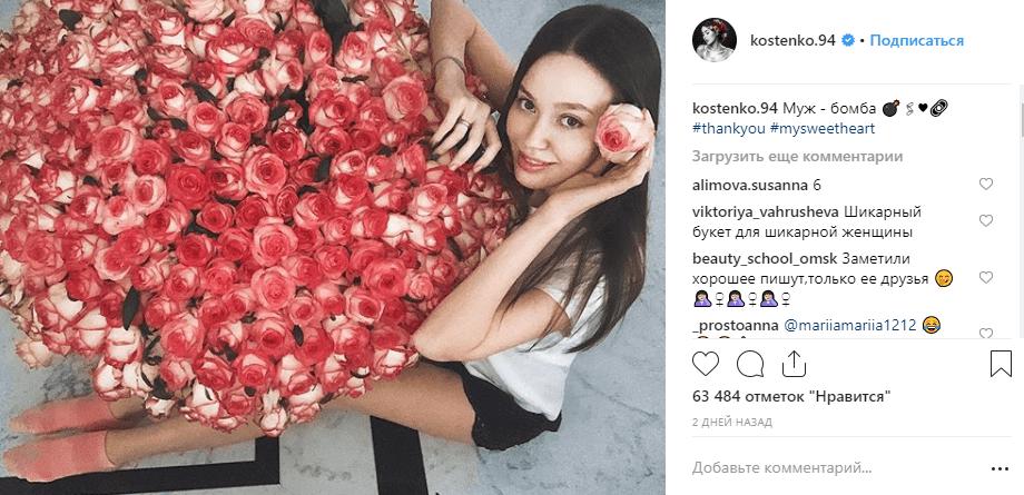 На фоне скандала с алиментами Тарасов дарит жене огромные букеты — фото