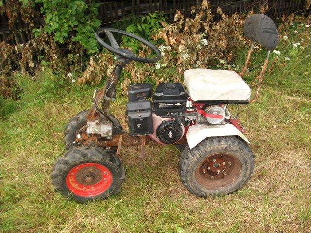 Самодельный трактор  с двигателем от мотоблока видео