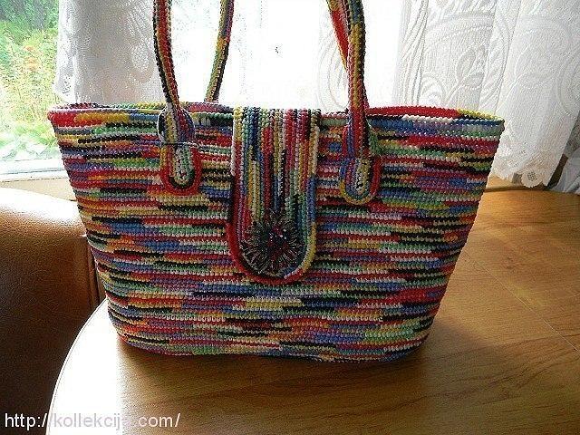 Как связать красивую сумку из пластиковых пакетов