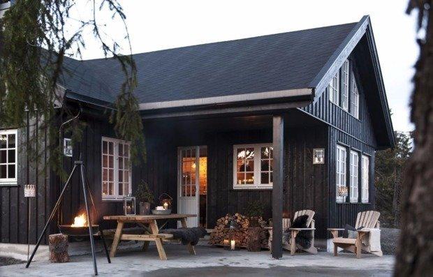 Домик в Норвегии с просторной террасой