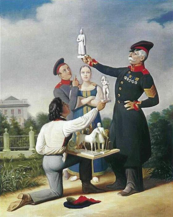 К. Гампельн. Продавец гипсовых статуэток в Петербурге