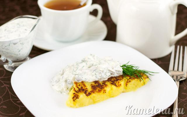 Картофель «Решти» с селедочным соусом