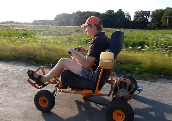 Go-Ped TRQ или кресло с двигателем и колесами