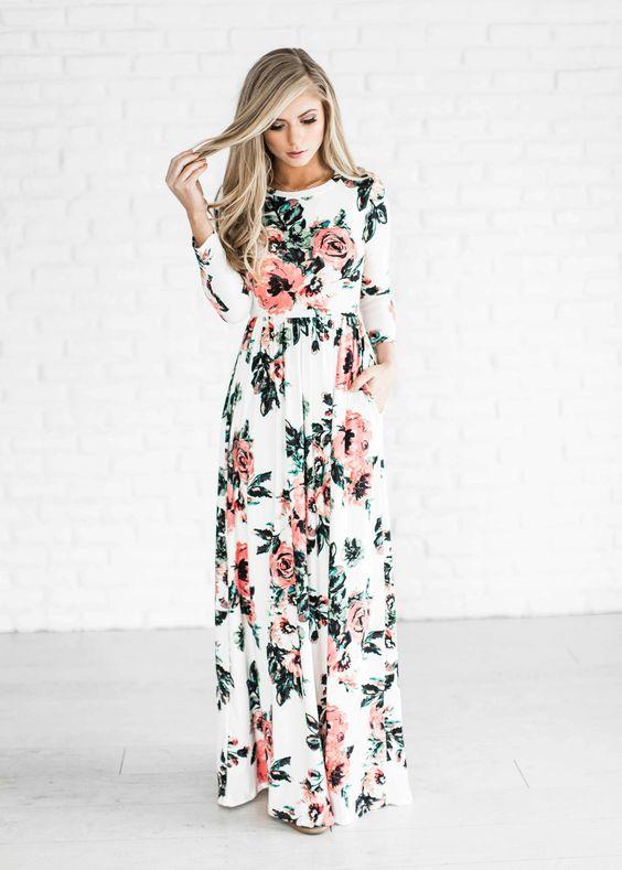 Прекрасный выбор на лето: 15 очаровательных длинных платьев