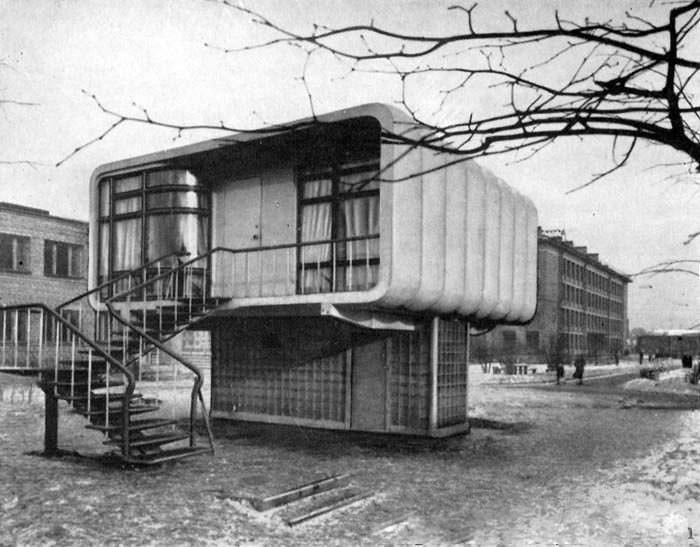 5. Экспериментальный одноквартирный дом из пластмассы  СССР, архитектура, было стало, ностальгия