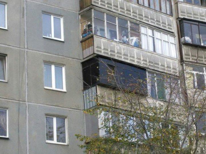Русские суровые балконы, 17 смешных фото приколов.