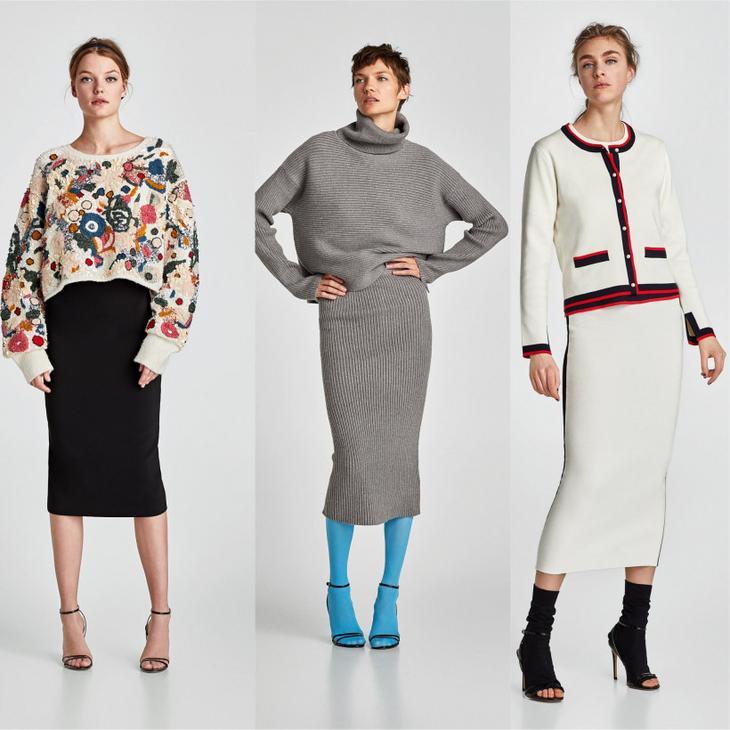 Тренд сезона - длинная узкая юбка