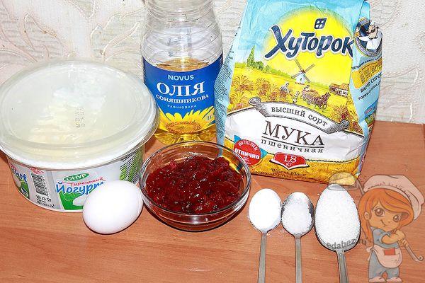 ингредиенты для бездрожжевого теста для пирожков