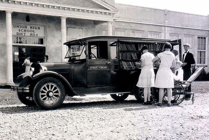 1926 библиотека, библиотека на колесах, ретро фото