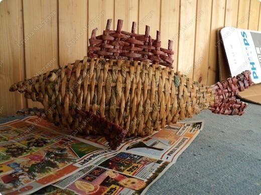 Мастер-класс Плетение: Рыбка, сплетенная из газет+МК. Бумага газетная. Фото 1