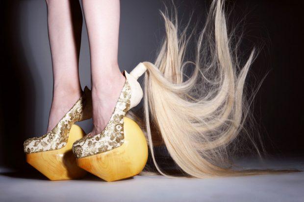 Туфли с волосами