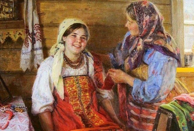 Как русская крестьянка ухажи…