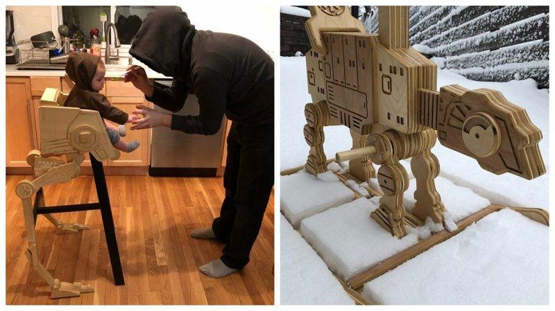 """Рукастый папа делает для ребенка фантастическую мебель в стиле """"Звездных войн"""""""