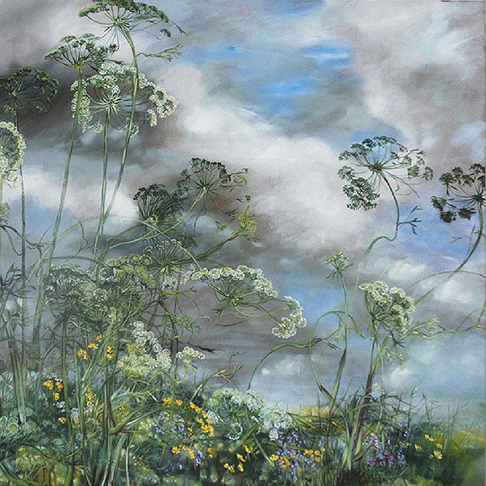 Танец цветов на картинах Клер Баслер
