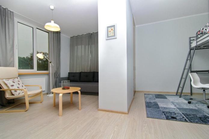 Однокомнатная квартира 44 кв. м. с детской