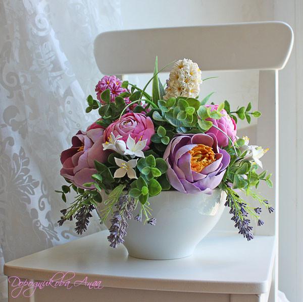 Композиции из цветов в горшках мастер класс