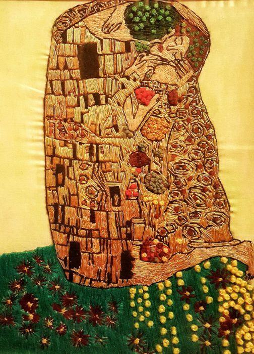 Вышивка гладью и лентами: волшебные картины Меко Гелашвили