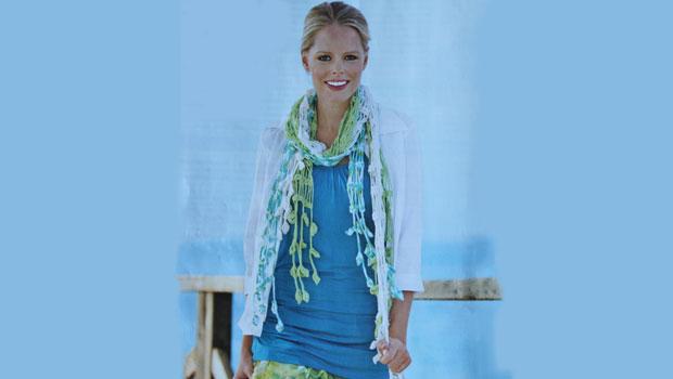 Оригинальный ажурный шарф крючком