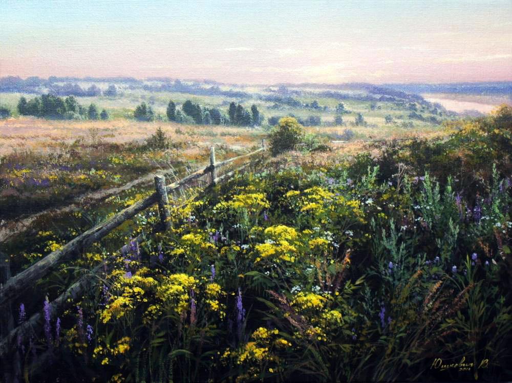 Трепетная любовь к родной природе —  душевные пейзажи Виктора Юшкевича