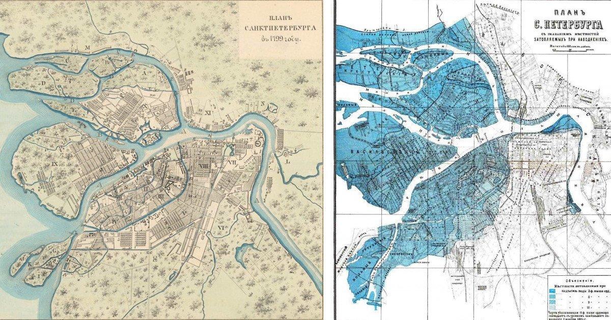 Исторические карты Северной столицы