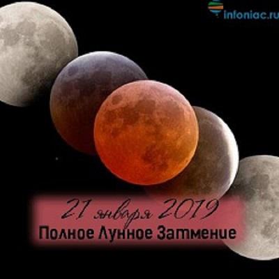 21 января 2019 года — Кровавая супер-Луна.