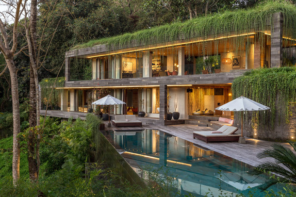 Каскадная вилла в джунглях Бали