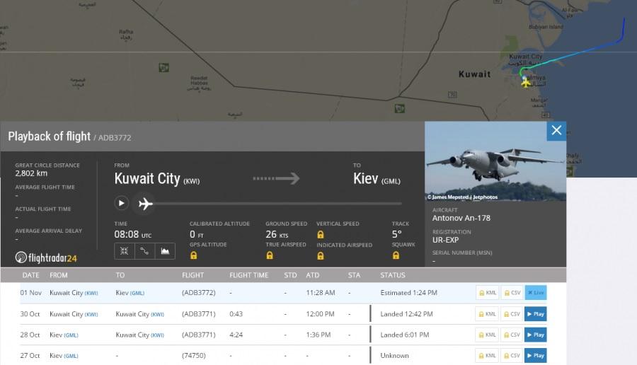 Что-то пошло не так: Ан-178 возвращается в Киев в обход Ирака, не дождавшись визита Порошенко в ОАЭ