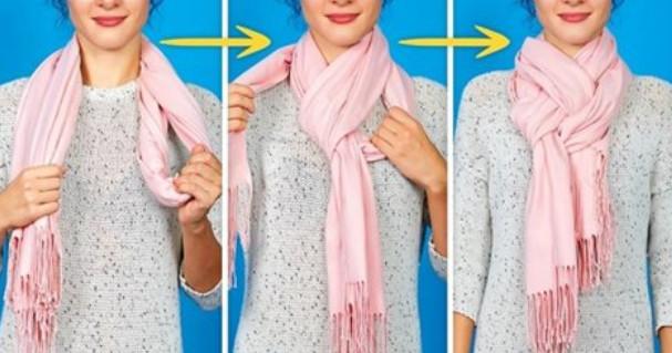 8 красивых способов дополнить образ с помощью шарфика. На заметку