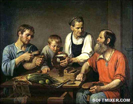 Чем питались крестьяне в XIX веке