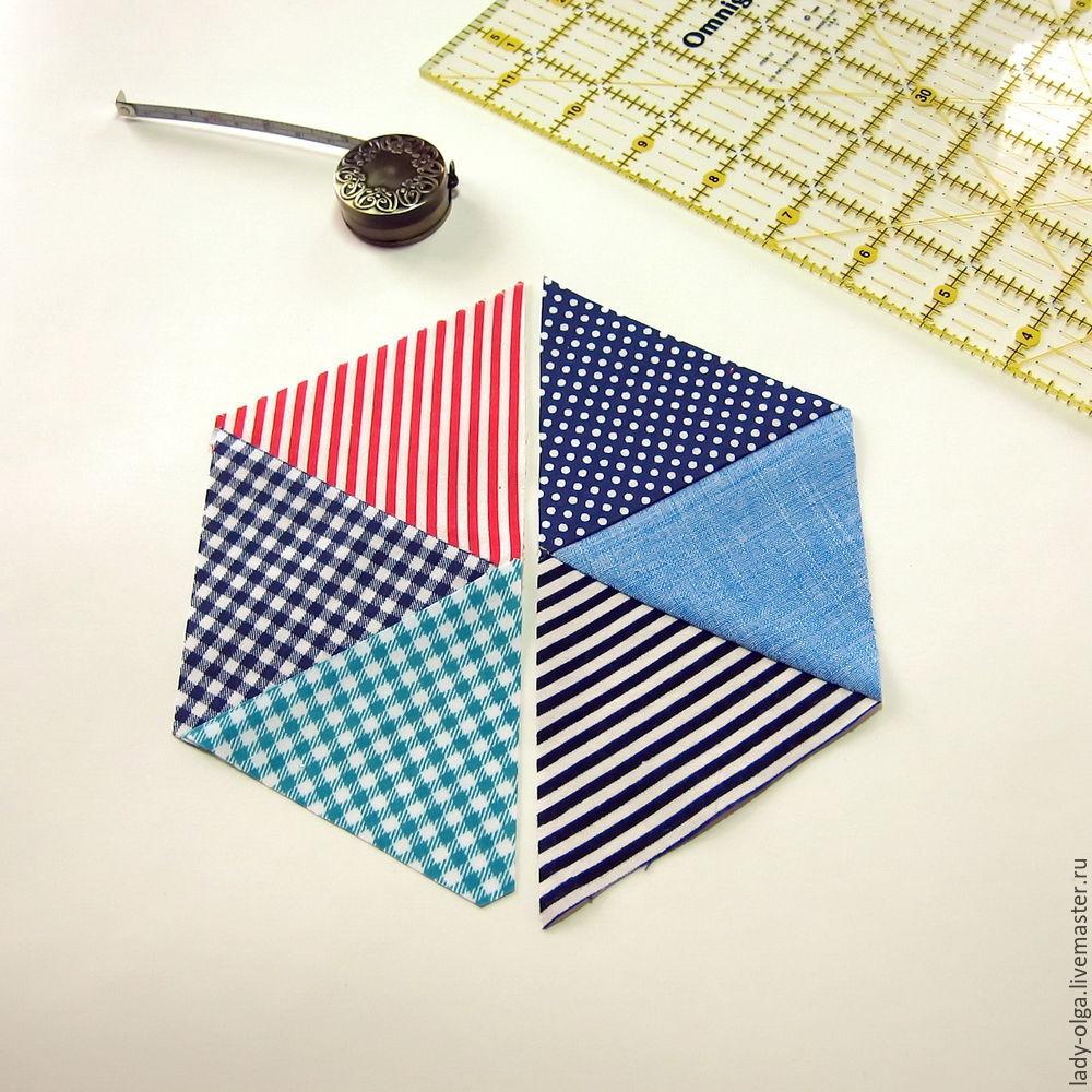 шитье из треугольников