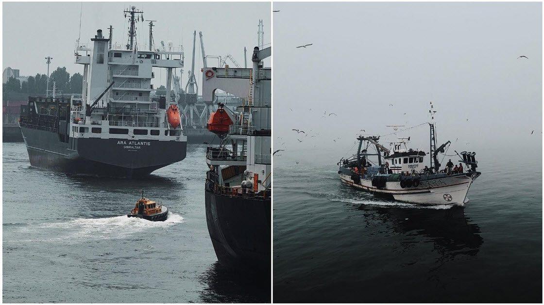 Промышленные корабли и рыбац…