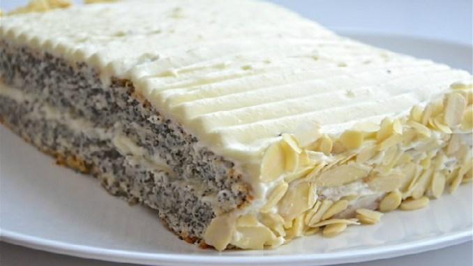 Творожно-маковый торт без единой лишней калории!На 100 грамм всего 99.14 ккал!